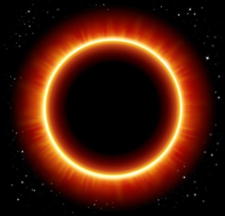vector space background and solar eclipse