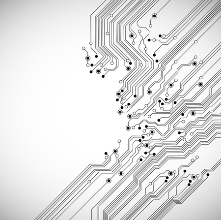 Ilustración de abstract digital technology background with circuit board texture - Imagen libre de derechos