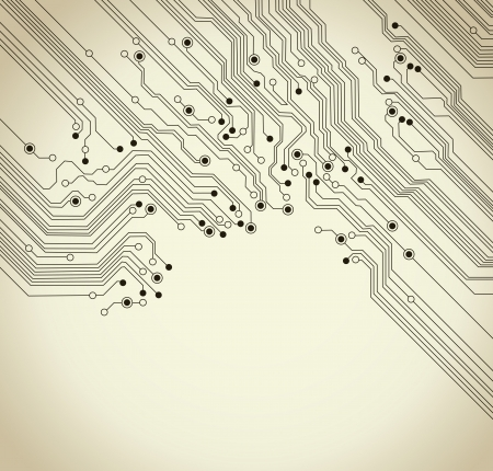 circuit board background texture - vector illustration