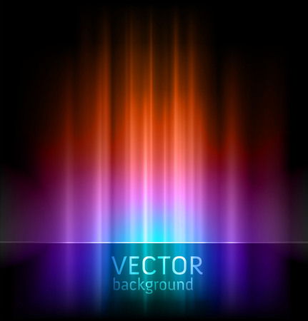 Illustration for abstract vector backgrounds - aurora borealis lights - Royalty Free Image