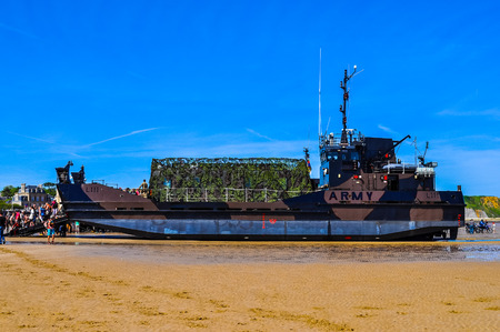 ARROMANCHES, FRANCE - JUNE 06, 2014: High_dynamic_range (HDR) People attending the D-Day celebrations of WW2 in Normandy