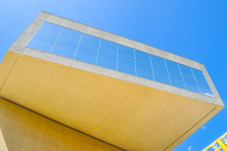 ROME, ITALY - JUNE 24, 2014: High_dynamic_range (HDR) The Maxxi museo nazionale delle arti del XXI secolo meaning National Museum of the 21st Century Arts is a national museum of contemporary art designed by British architect Zaha Hadid in 2010