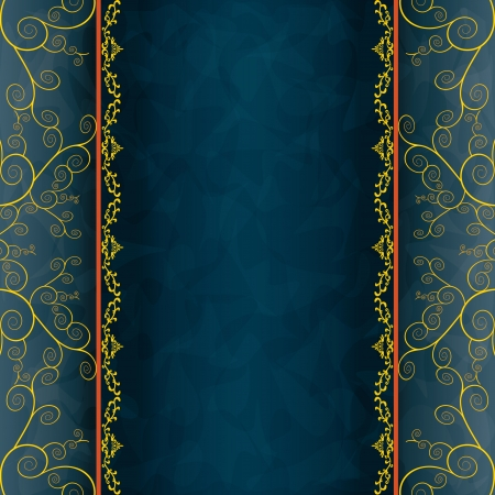 Blue - grey background for invitation or greeting card, menu, cover. Luxury card in grunge or vintage style. illustration
