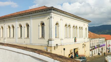Foto de March 25, 2016, Historic city of Ouro Preto, Minas Gerais, Brazil colonial mansions. - Imagen libre de derechos