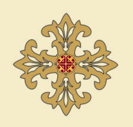 Illustration pour SYMBOLS OF THE CATHOLIC CHURCH, WITH CROSSES DECORATED FOR SACRED DRESSES - image libre de droit