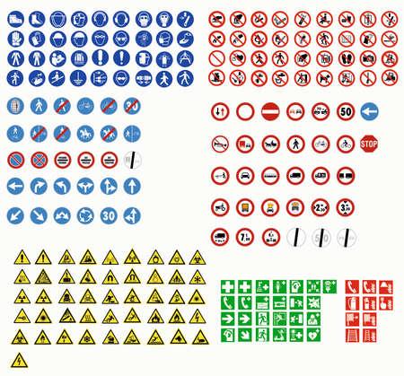 Illustration pour ISO 7010 SIGN WARNING SET SYMBOL SAFETY - image libre de droit