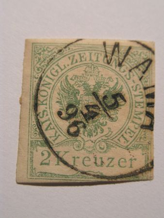 Very old stamp from Austri value 2 kr
