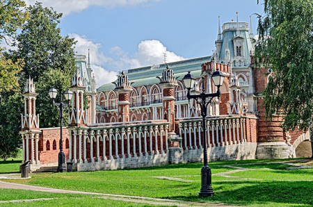 Estate of Tsaritsyno, Moscow, Russia, founded in the early 16th century.