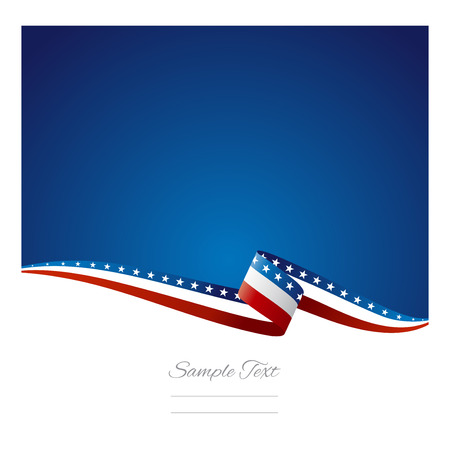 Ilustración de American flag ribbon abstract color background vector - Imagen libre de derechos