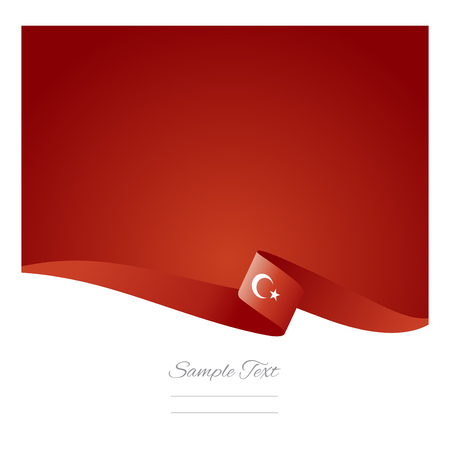 Abstract color background Turkish flag vector