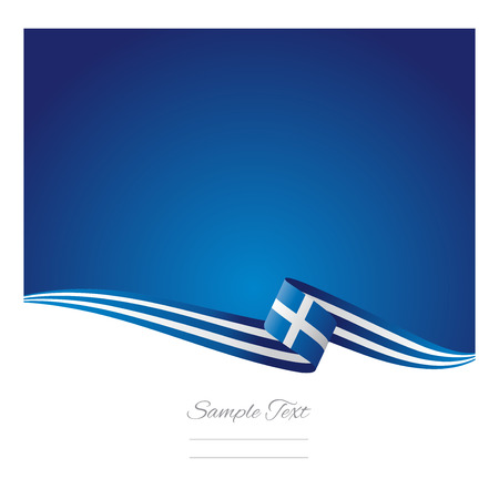 Greece flag abstract color background