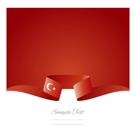 Abstract background Turkish flag ribbon
