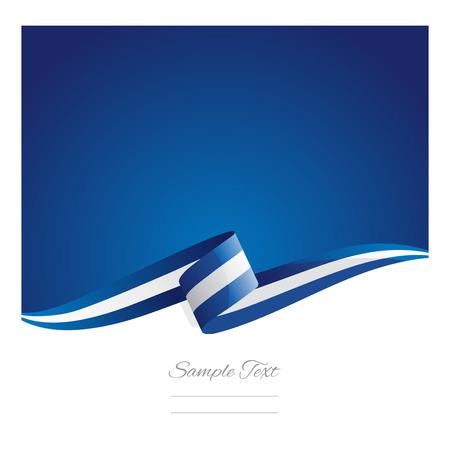 Illustration pour New abstract Greece flag ribbon - image libre de droit