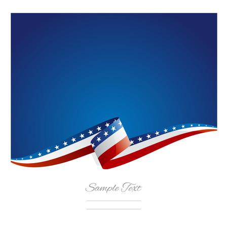 New abstract USA flag ribbon