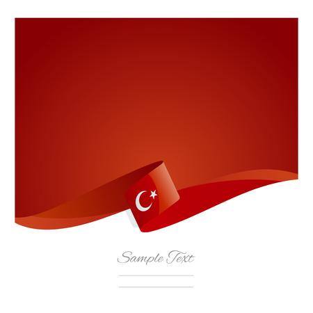 Illustration pour New abstract Turkish flag ribbon - image libre de droit