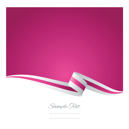 Illustration for Abstract white pink ribbon vector - Royalty Free Image