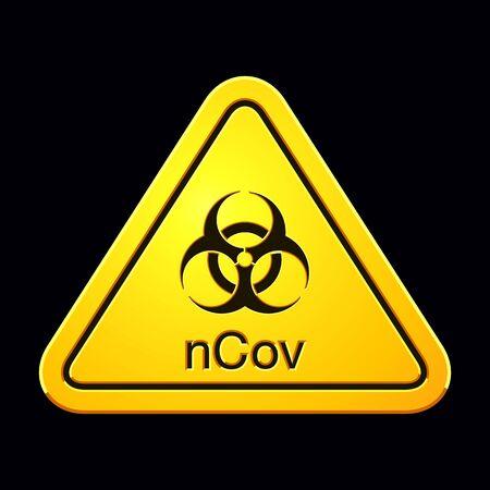 Illustration pour Coronavirus 2019-nCov. Novel Coronavirus Outbreak. Coronavirus Cell. Stop Coronavirus. Pandemic Risk Alert. Vector illustration - image libre de droit