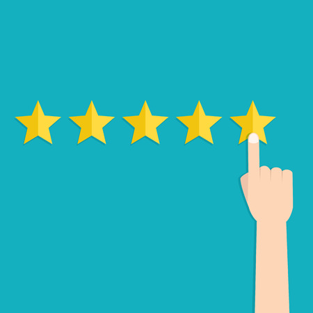 Illustration pour Customer review concepts - image libre de droit