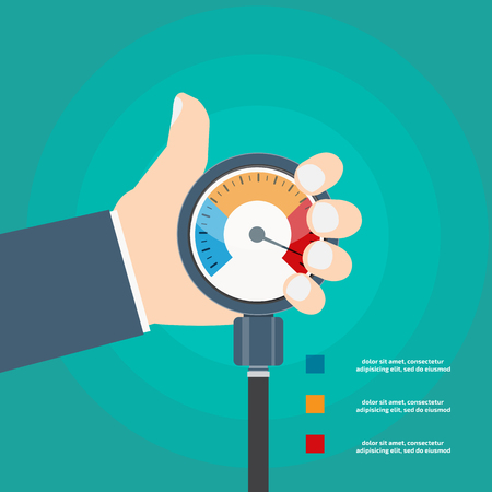 High blood pressure concept vector