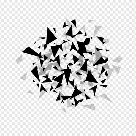 Illustration for Abstract  hexagons hatter burst . Geometric texture background template isolated.  Vector illustration. - Royalty Free Image