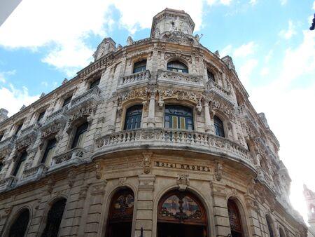 Eclectic architecture building in Old Havana, Cuba