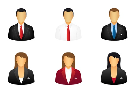 Set of business people icons