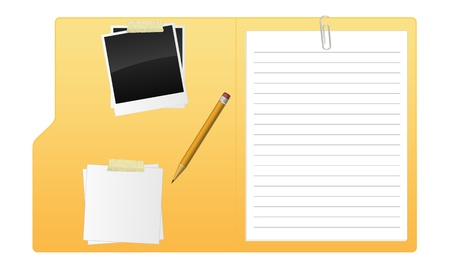 A open folder