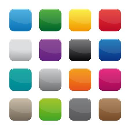 Illustration pour Blank square buttons - image libre de droit