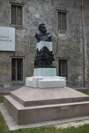 Faenza, Italy - April 29, 2018: view of the monument of Generale Pasi