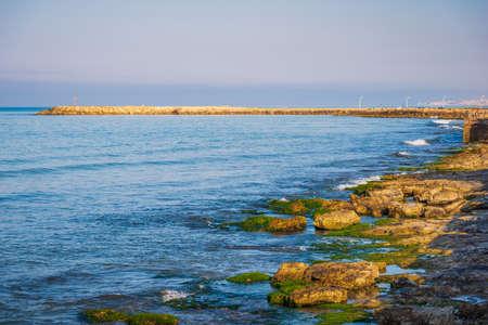Photo pour Panorama from Donnalucata Promenade, Scicli, Ragusa, Sicily, Italy, Europe - image libre de droit