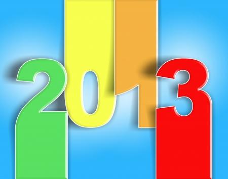 Foto per Buon anno nuovo, auguri colorato 2013 - card - Immagine Royalty Free