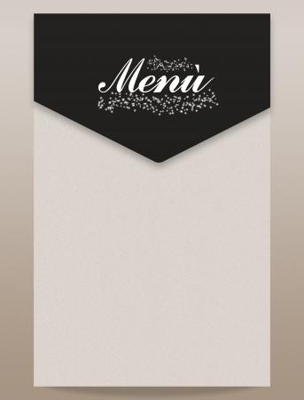 Foto per Menu natale capodanno rosso nero bianco elegante - Immagine Royalty Free