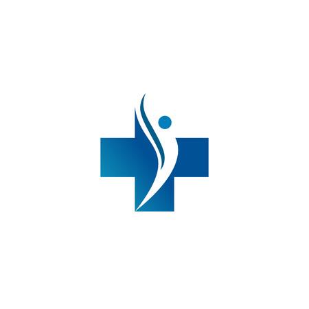 Ilustración de A Logo for the clinic, pharmaceutical company. Logo of the family doctor, first aid. Health and medical cabinet - Imagen libre de derechos