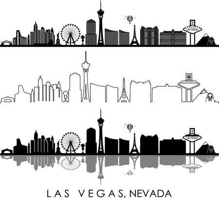 Illustration for LAS VEGAS City NEVADA Skyline Silhouette Cityscape Vector - Royalty Free Image