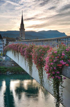 Sunset in Villach, Kaernten, Austria