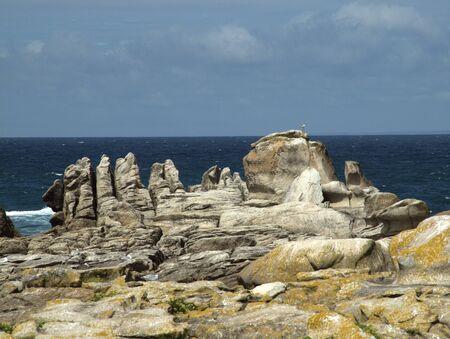 Impression wilder Kueste am Atlantik
