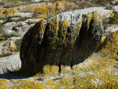von Natur gestaltete Steinskulptur
