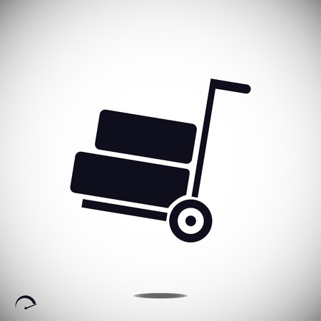 wheelbarrow icon, vector best flat icon