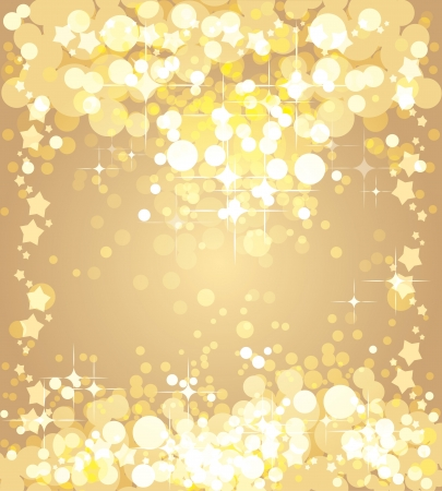 Christmas gold background,  template