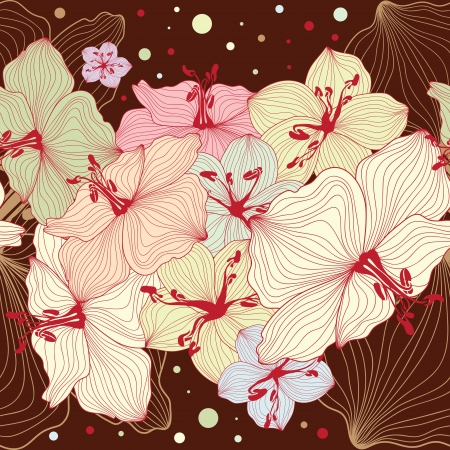 Seamless floral design background, texture with flowers, floral pattern