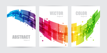 Illustration for Abstract technology, set business template, design wave, background - Royalty Free Image
