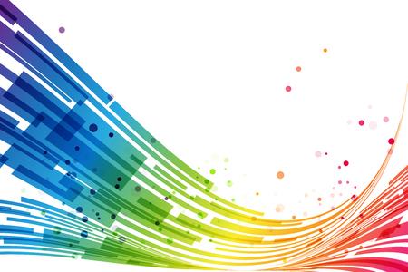 Illustration pour Abstract rainbow stripes on white background, rainbow design - image libre de droit