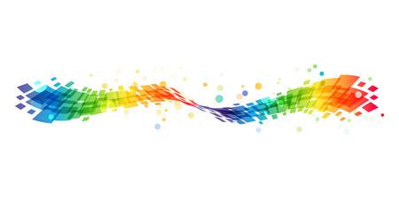 Illustration pour Abstract rainbow wave on white background, colorful design element - image libre de droit