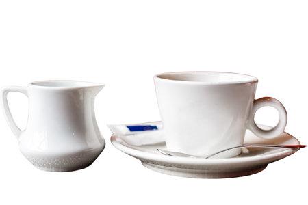 Photo pour close up of coffee cup on white background - image libre de droit