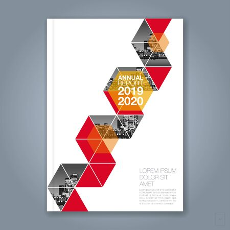 Illustration pour Abstract minimal geometric polygon background for business annual report book cover brochure flyer poster - image libre de droit