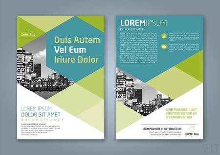 Illustration pour minimal geometric shapes design background for business annual report book cover brochure flyer poster - image libre de droit