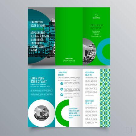 Illustration pour Brochure design, brochure template, creative tri-fold, trend brochure - image libre de droit
