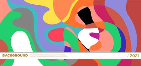 Illustration pour Vector colorful liquid abstract background patterns - image libre de droit