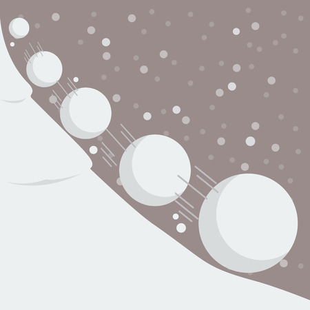 Illustration pour Snowball effect. Vector Illustration - image libre de droit