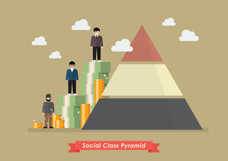 Illustration for Social class pyramid. Vector illustration - Royalty Free Image